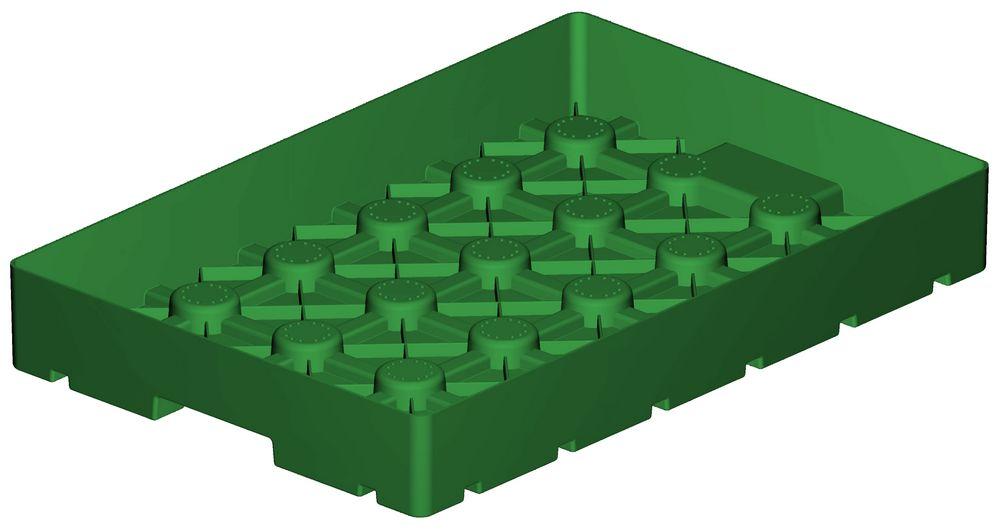 Extenzív zöldtető modulunk egy teljesértékű, szakszerű zöldtető rétegrendet testesít meg, egy úgynevezett zöldtető-lego.